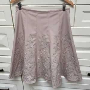 Beautiful Flared Summer Skirt with Embroidery